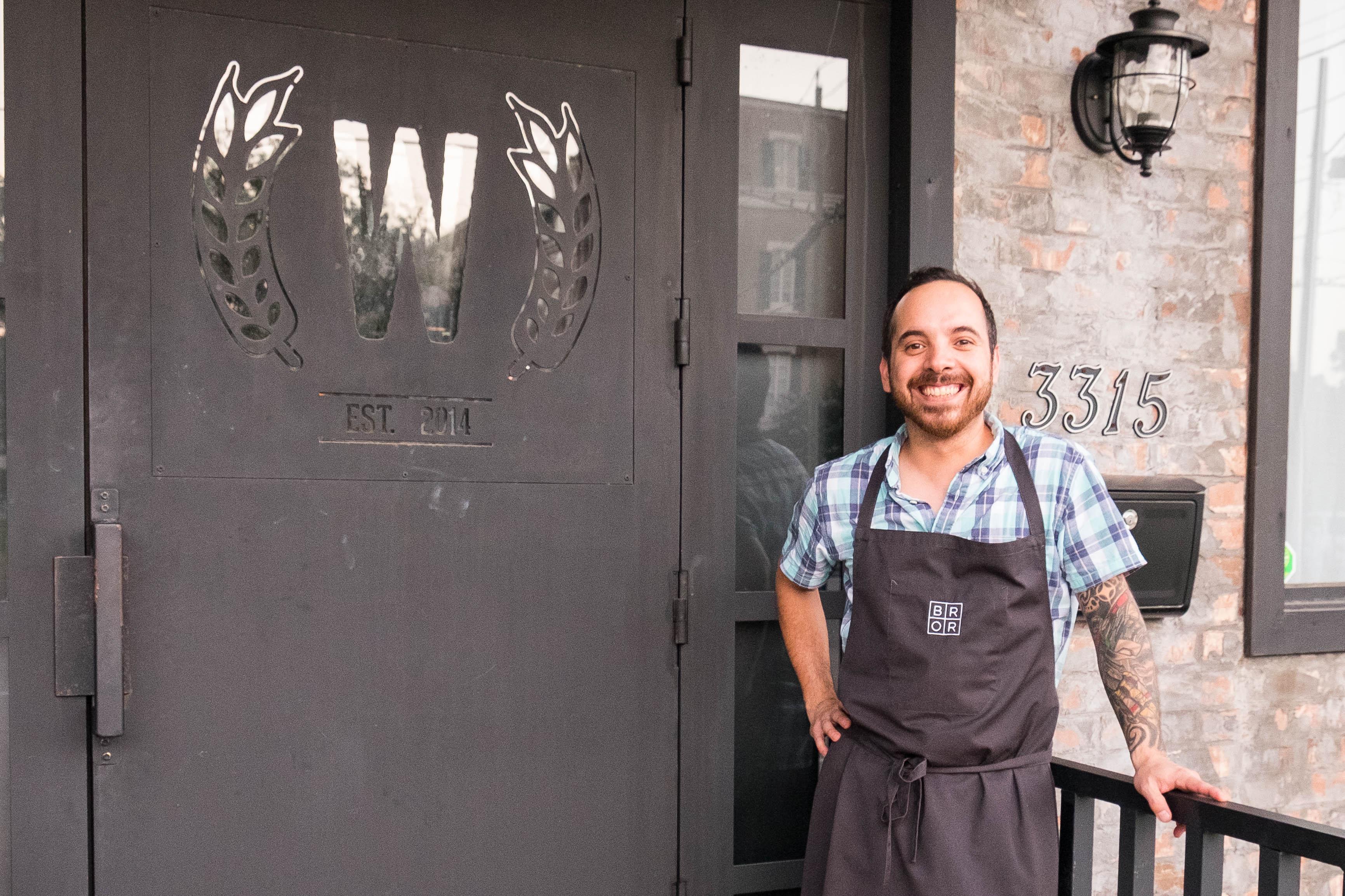 Chef Brandon Silva of Wooster's Garden