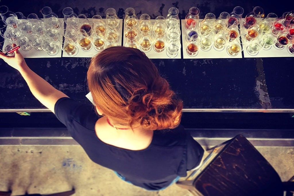 Sarah Cuneo at Anvil blind tasting test