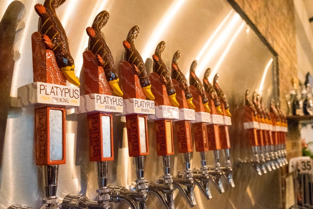 Platypus Brewing tap wall