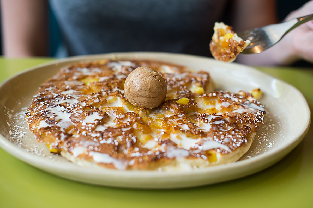 Pineapple Upside Down Pancakes at Snooze
