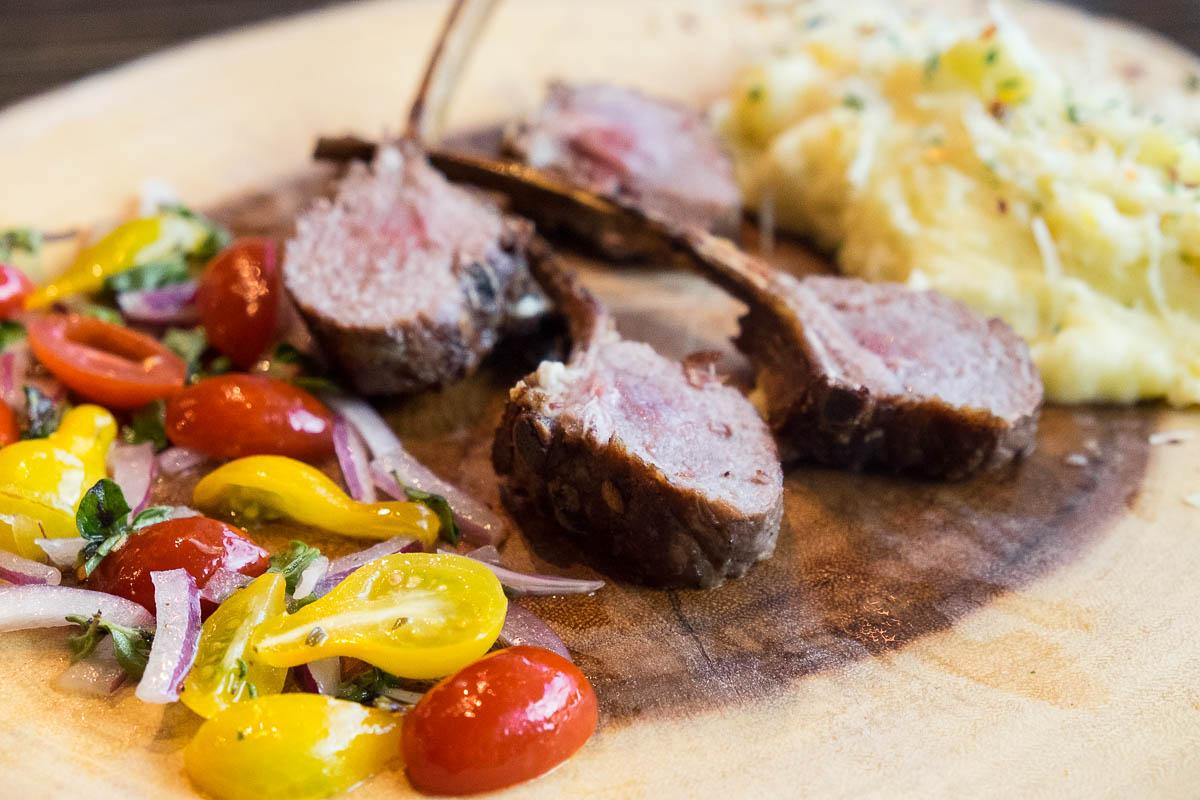 Smoked Lamb Chops at d'Vine