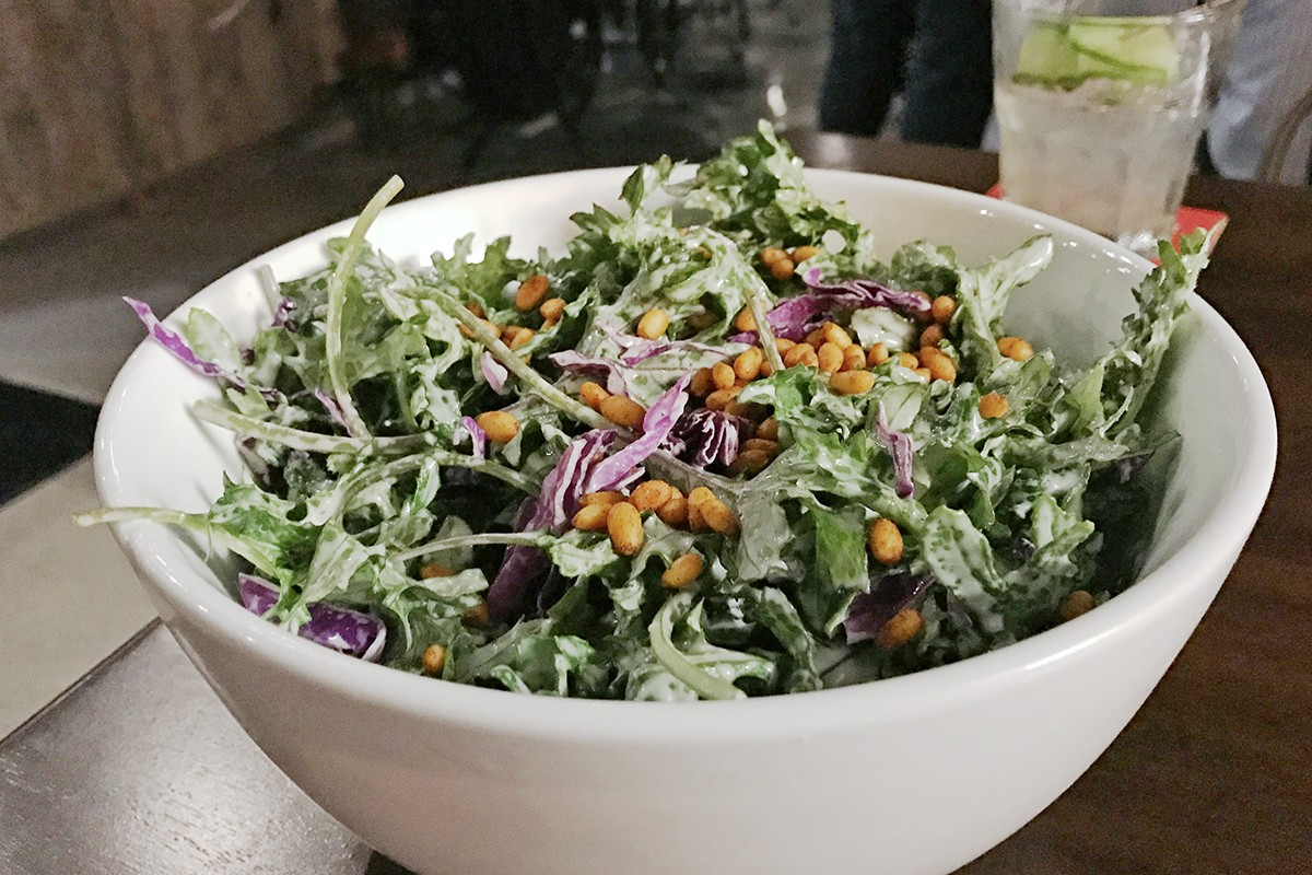 Baby Kale Salad at Bosscat