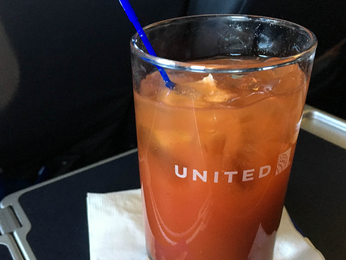 Bloody Mary in United first class