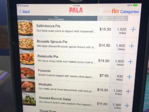 Pala order screen