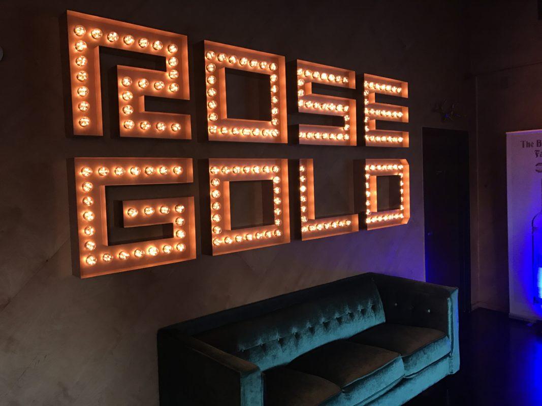 Rose Gold sign