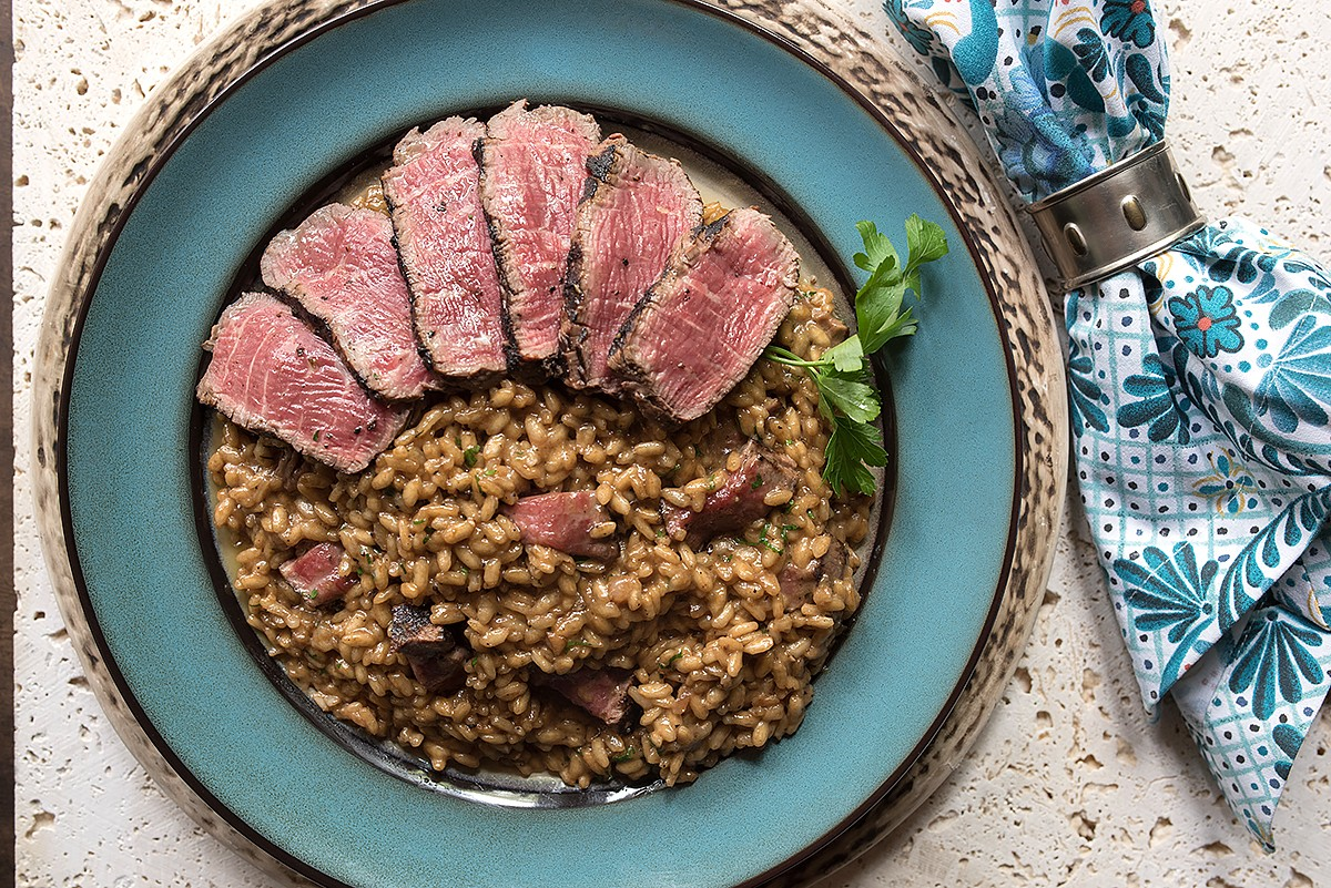 Carrabba risotto with beef filet
