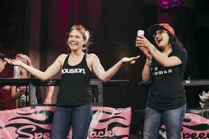 Elyse Blechman and Mony Bunni at Speed Rack 2017
