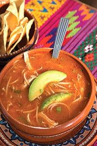 sopa de fideo at Sylvia's