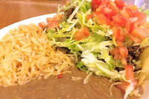 Puffy Taco platter at Fiesta Loma Linda