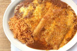 Larry's enchilada platter