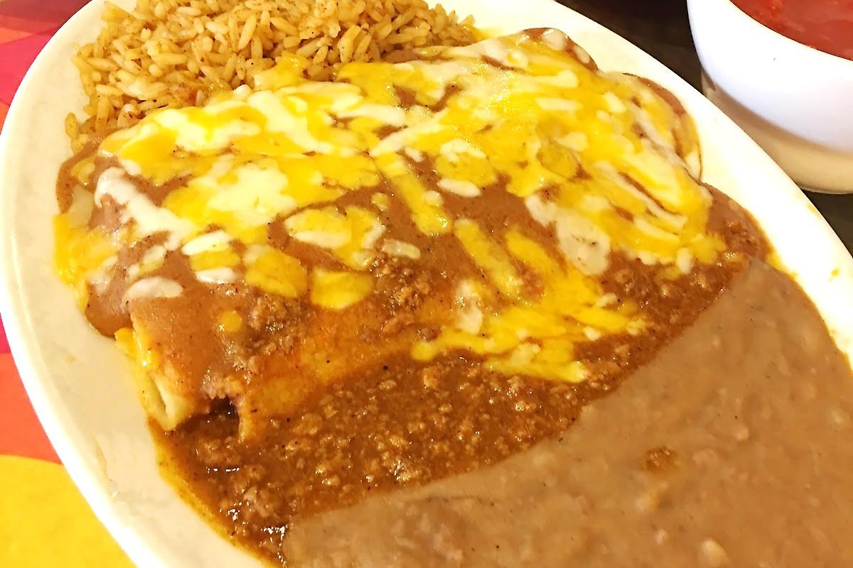 Monterey House enchilada platter