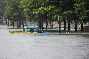 truck flooded downtown