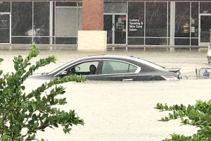 Cypresswood flooded parking lot