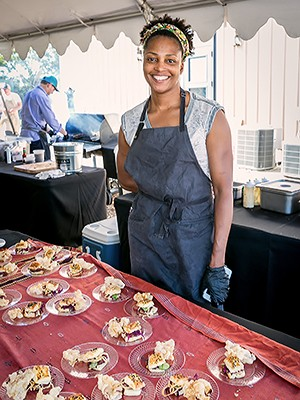 Dawn Burrell of Uchi at the 2016 Butcher's Ball