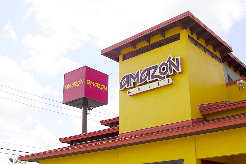 Amazon Grill sign