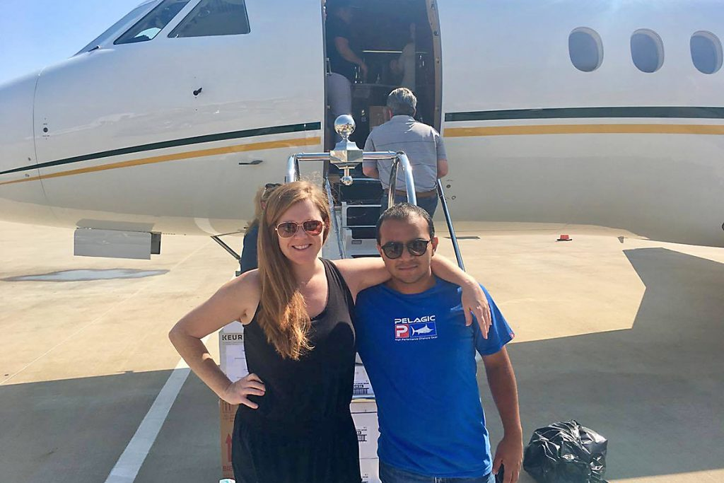 Keri Henry with Billy Argueta of Cajun Airlift