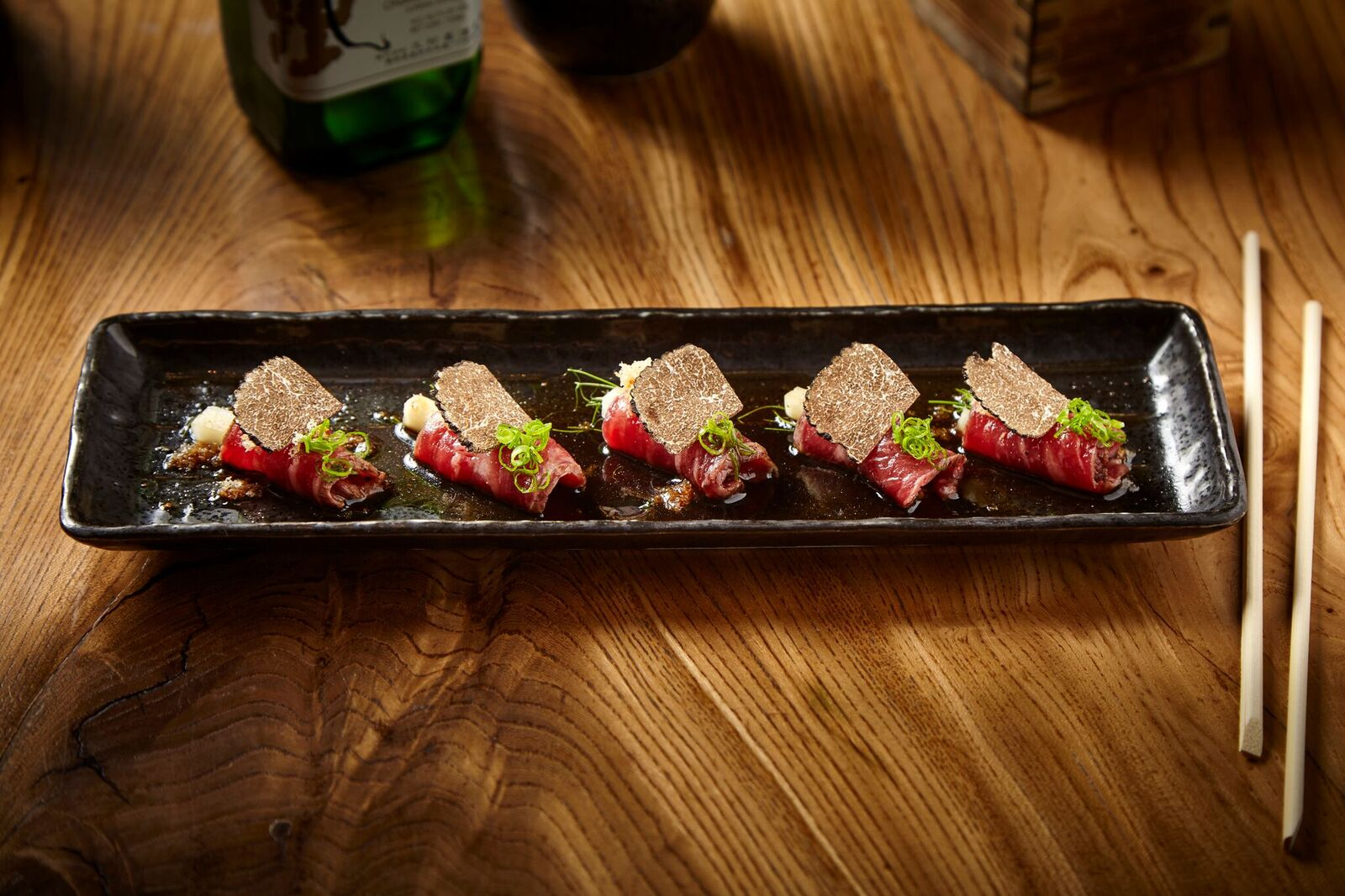 Picture of Prime Beef Tataki on a plate.