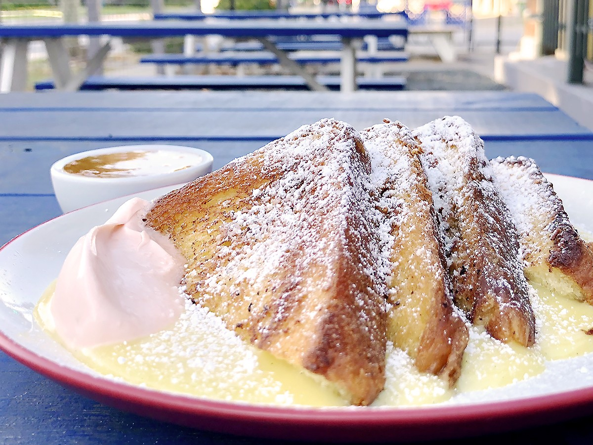 custard French toast at Better Luck Tomorrow