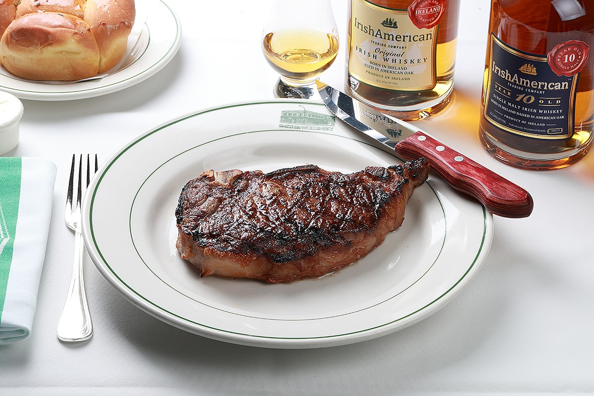 Whiskey-aged steak at Smith & Wollensky's