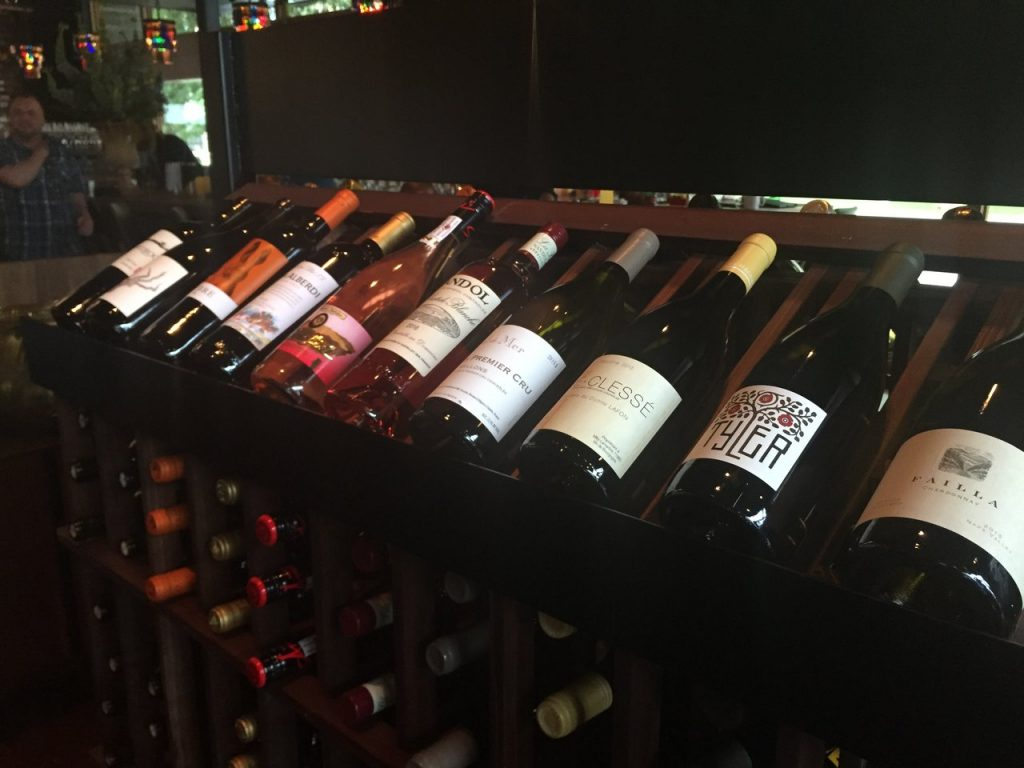 Picture of a rack of wine.