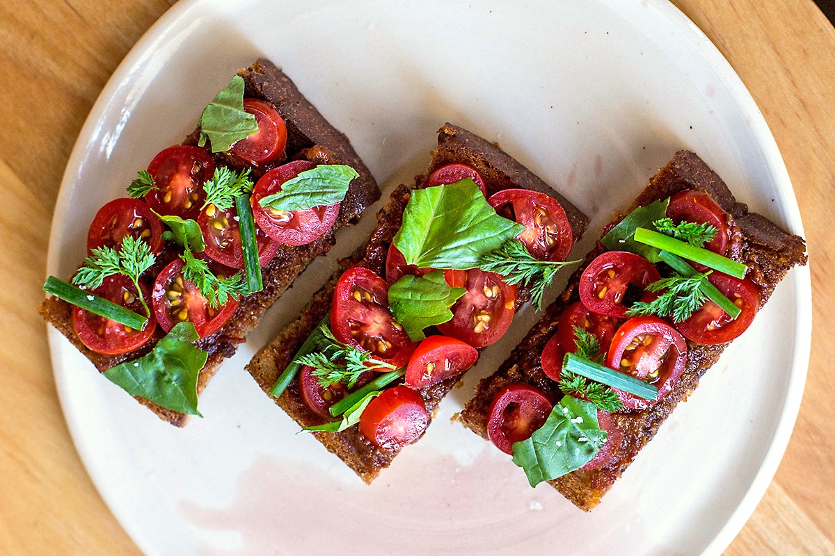 tomato toast at Theodore Rex