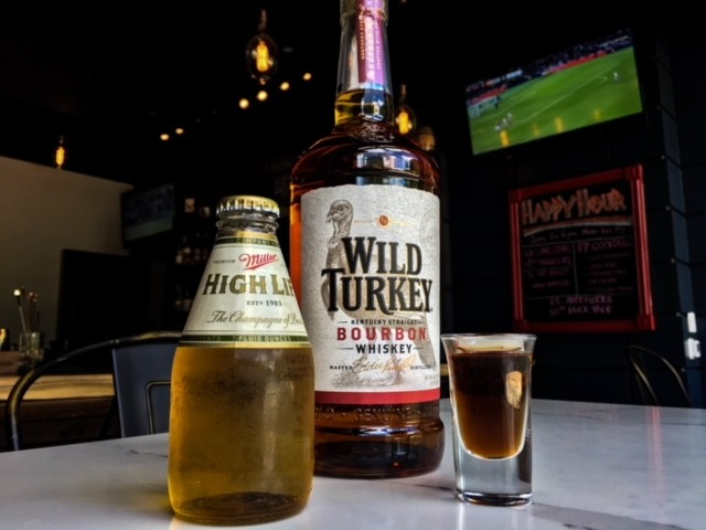 Wild Turkey and Miller beer at BCK