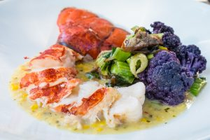 lobster tail at Rainbow Lodge