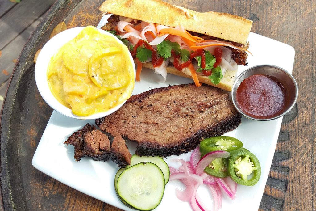 Buck's barbecue plate with banh mi