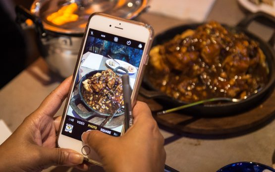 Instagrammer taing shot of Sizzling Tofu at Phat Eatery