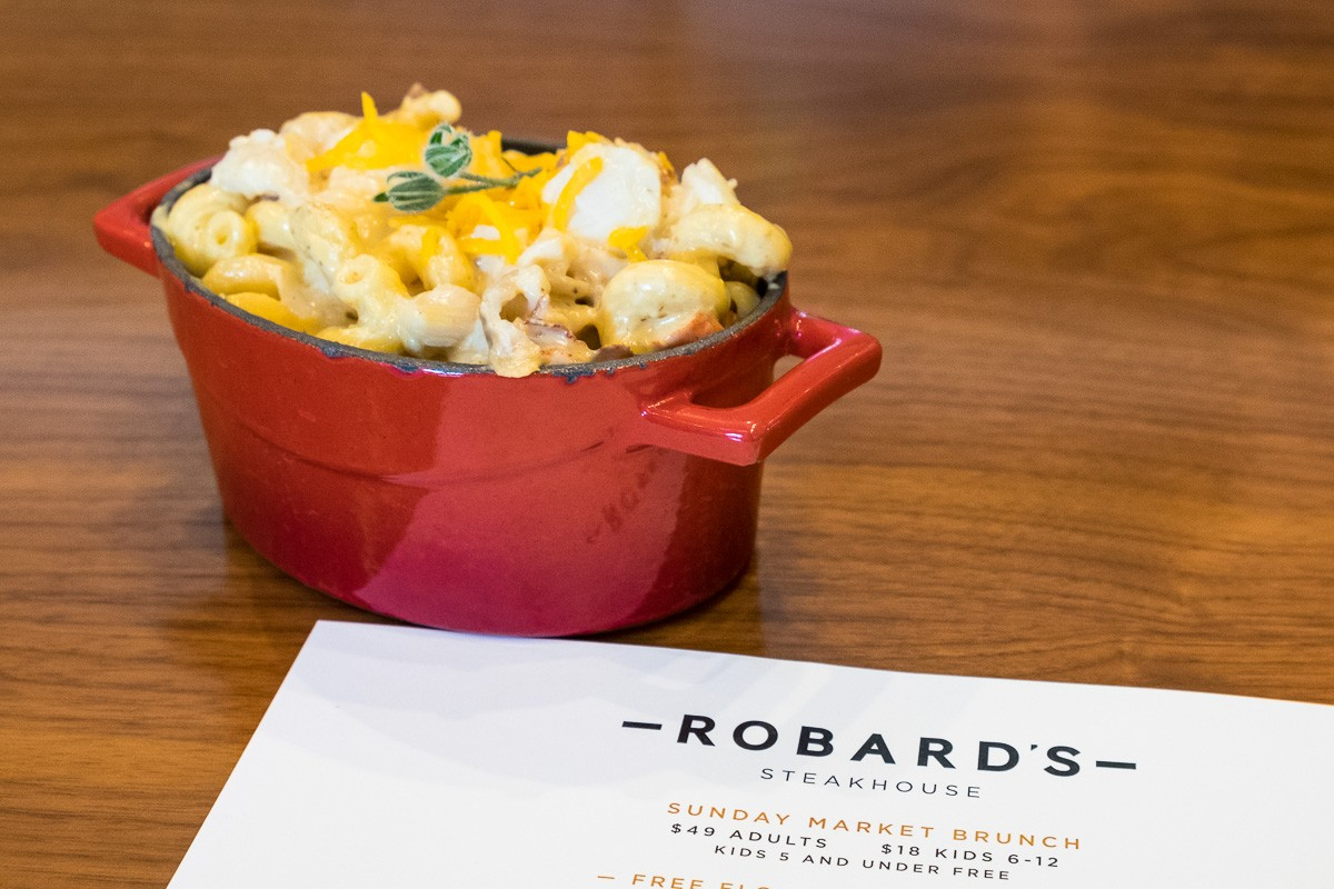 lobster truffle mac and cheese at Robard's Steakhouse