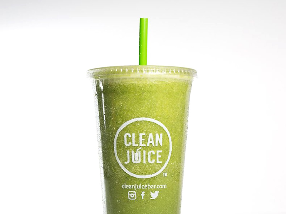 Tropical smoothie at Clean Juice Bar