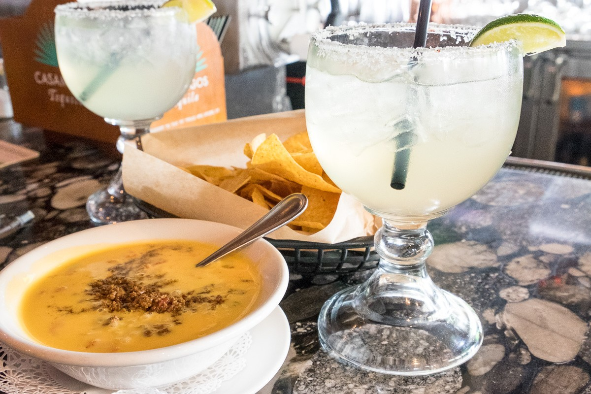 Cyclone Anaya's queso and margaritas