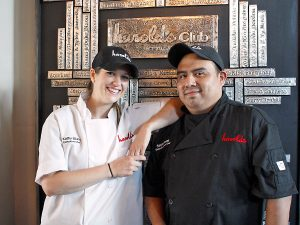 Kathy Elkins and Sergio Rosas at Harold's