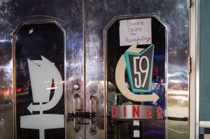 59 diner closed sign