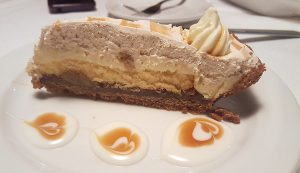 bananas foster pie at Christie's Steaks & Seafood