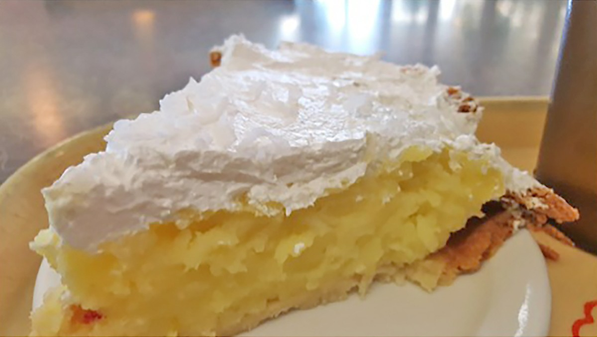 coconut chess pie at Dinner Bell