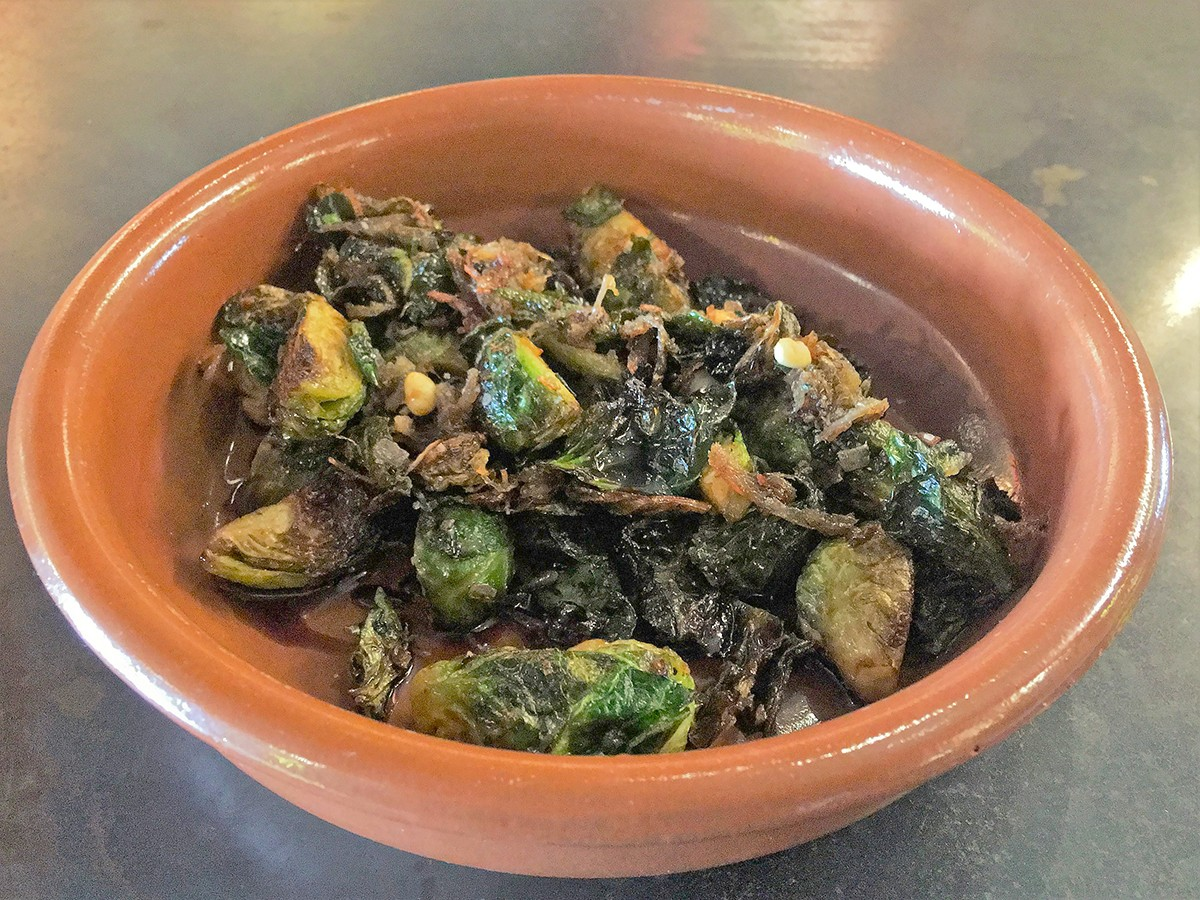 brussels sprouts at The Tasting Room