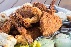 fried chicken at La Lucha