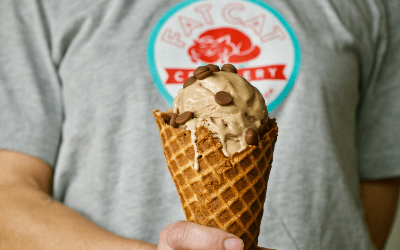 Milk Chocolate Stout Ice Cream at Fat Cat Creamery