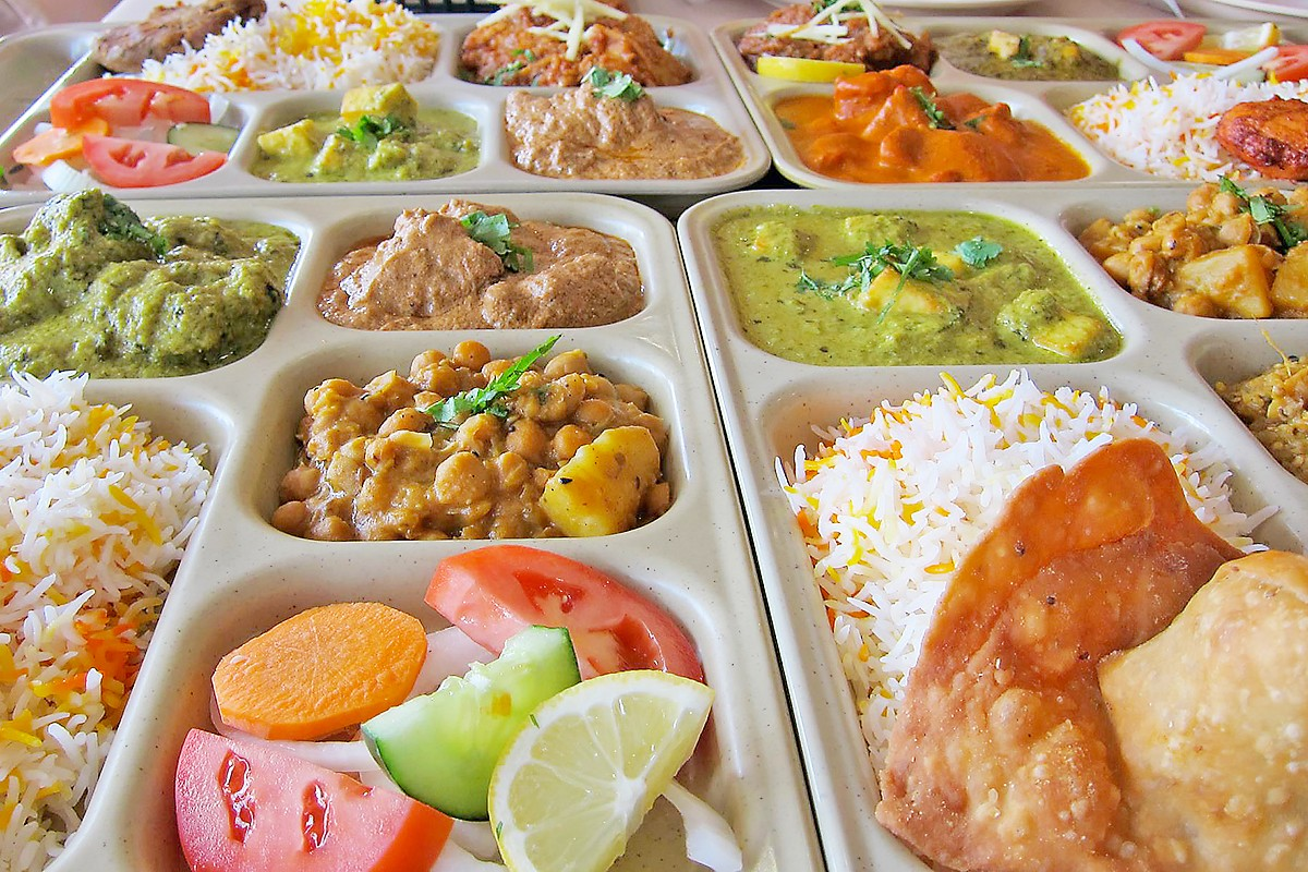 lunch trays at Himalaya