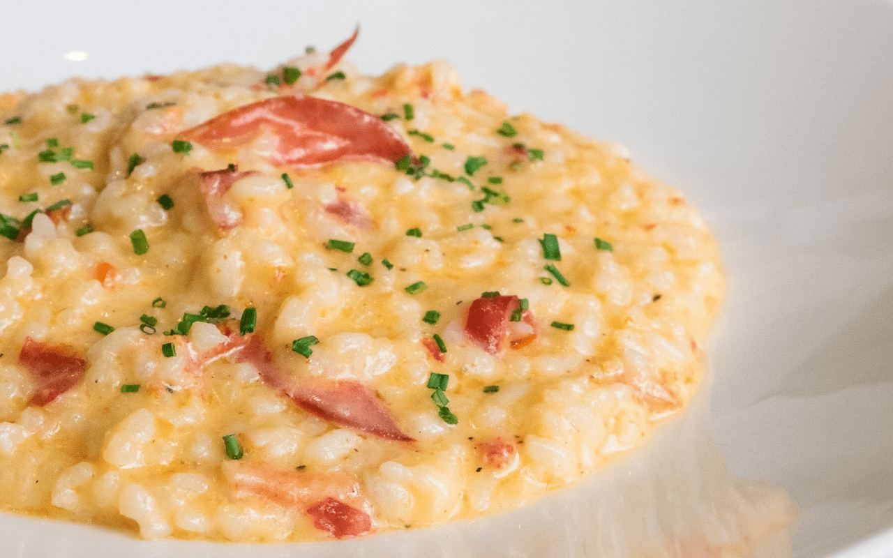 Lobster risotto with Calabrian peppers