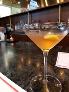 clarified milk punch at Lucienne