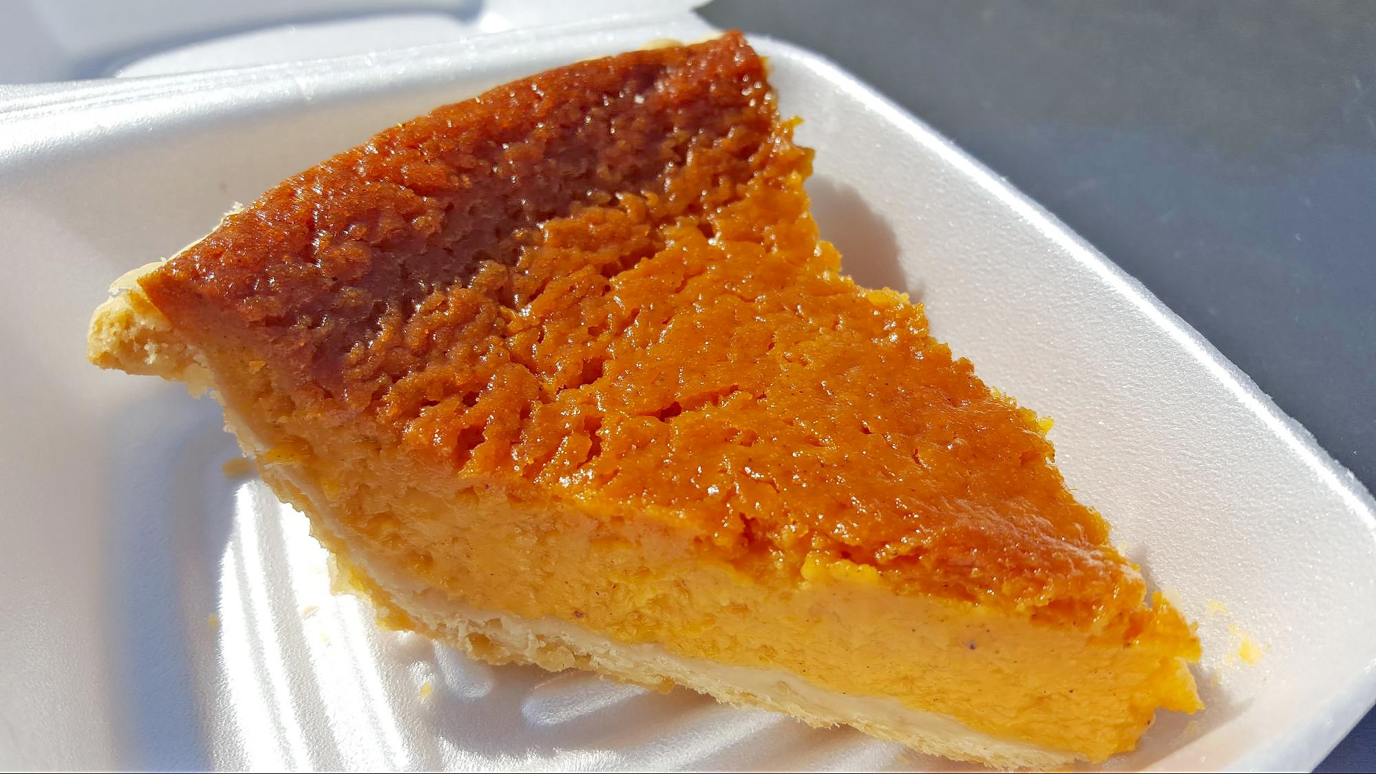 Sweet potato pie at Leon's World Finest Bar-B-Que in Galveston