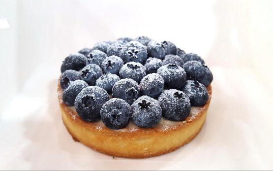 Blueberry tart at ZTao