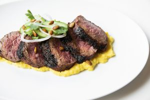 wood-grilled steak at Indianola