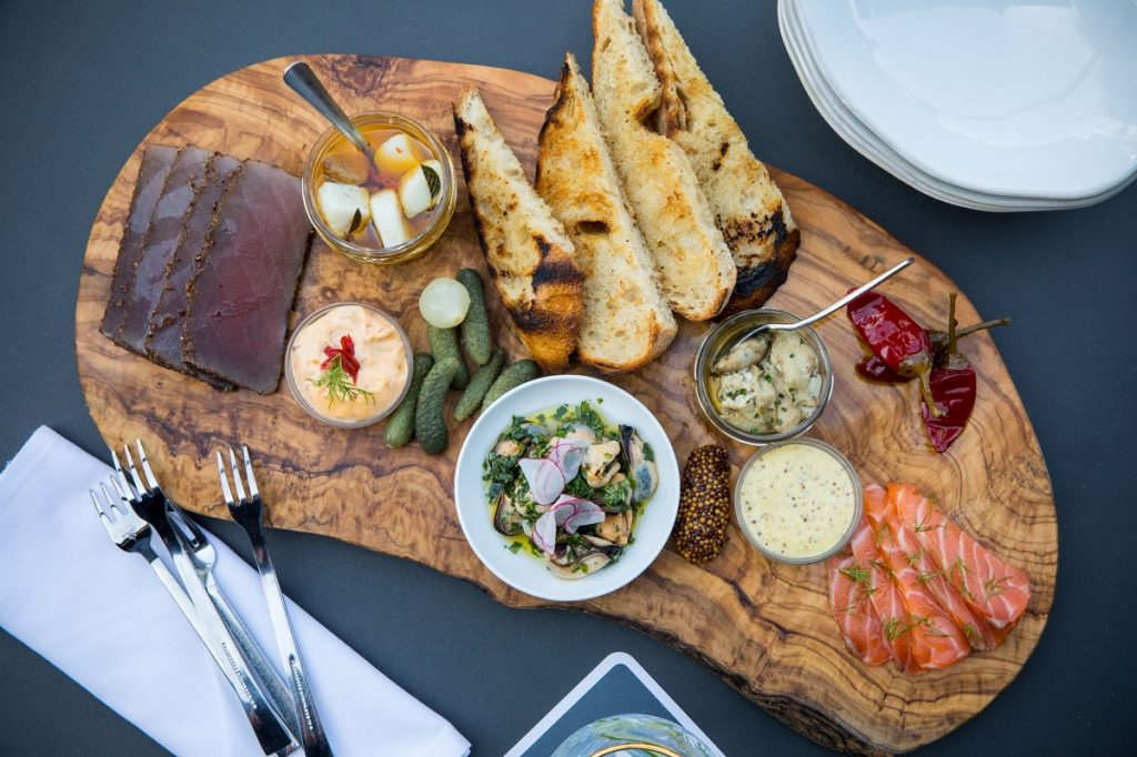 fish charcuterie at 1751 Sea & Bar