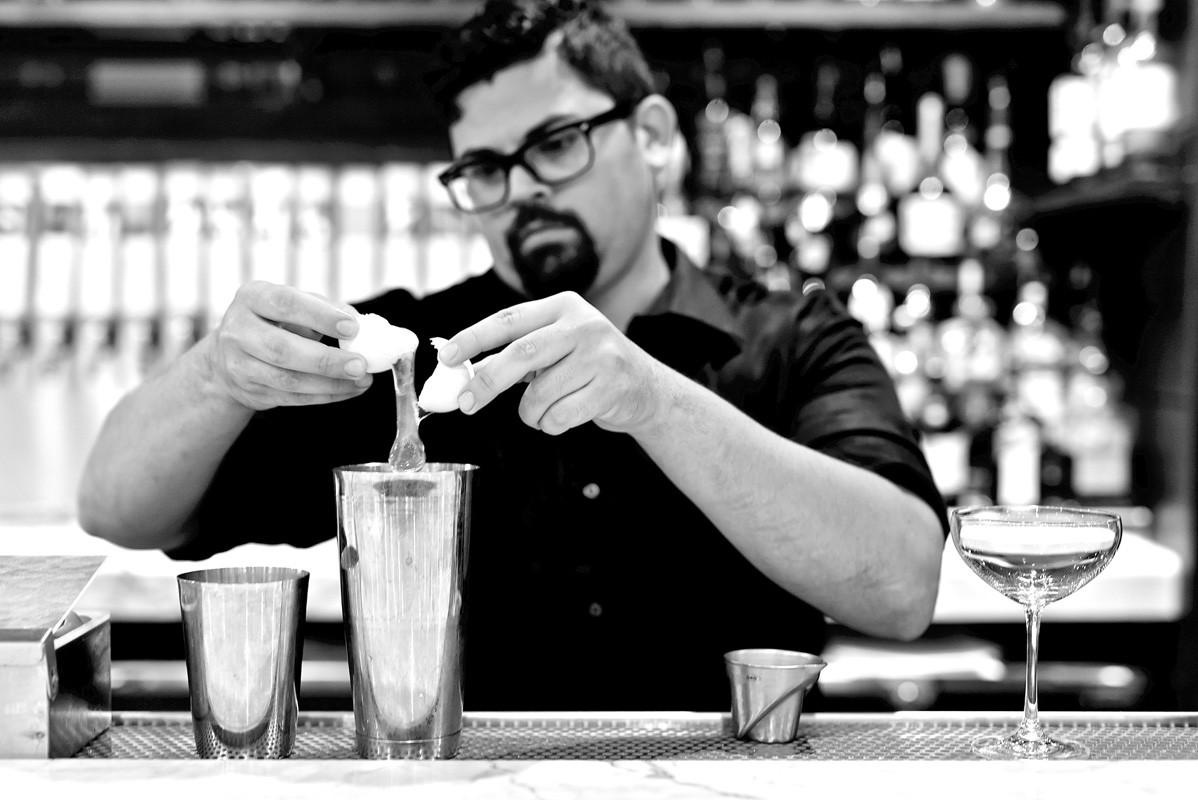 egg white-based cocktail at Killen's Steakhouse