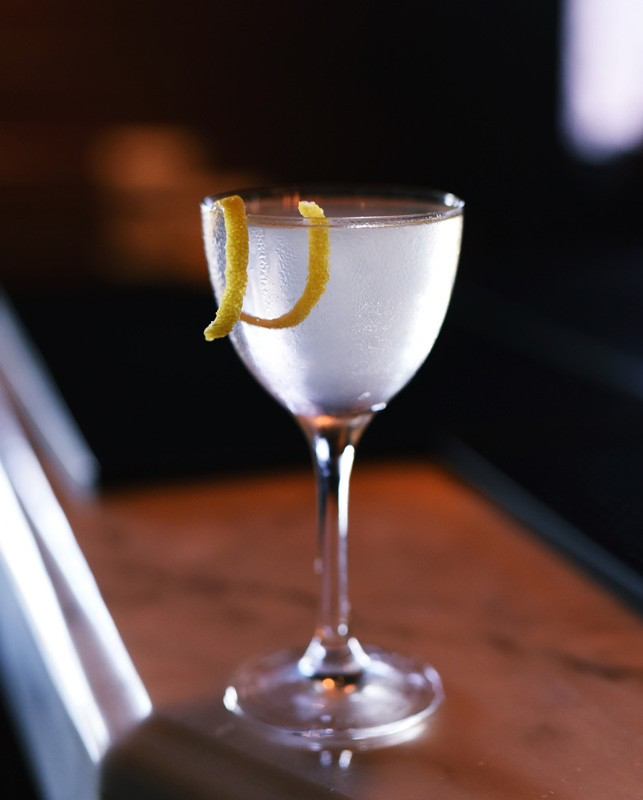 Corpse Reviver No. 2 cocktail at Killen's Steakhouse.