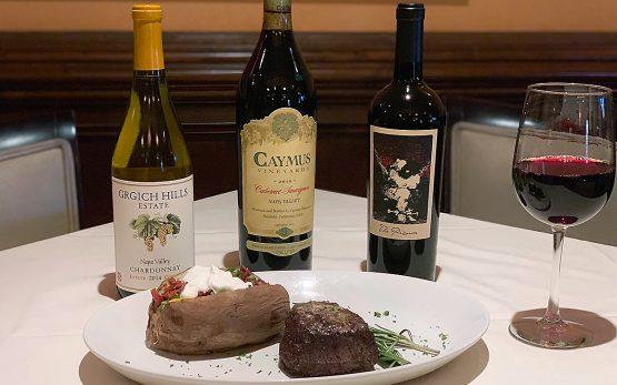 Dario's steak and wine special