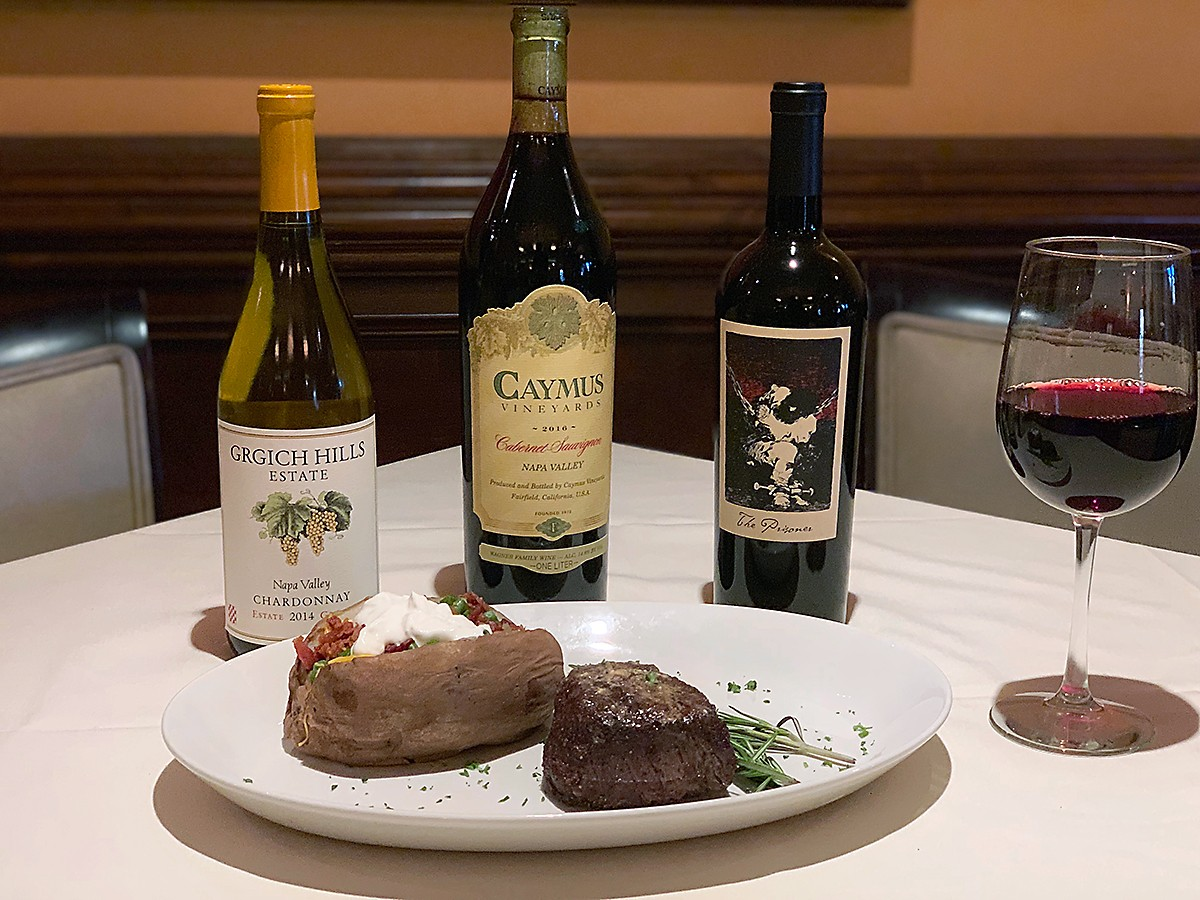 Dario's steak and wine special